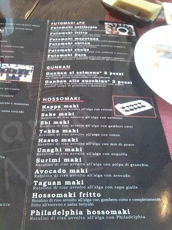 Nara Sushi Restaurant: Menù5