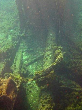 Porto de Santo Antonio Beach : Navio Eleani Stathatos - encalhando no Porto em 1929, terminando de submergir em 1946.