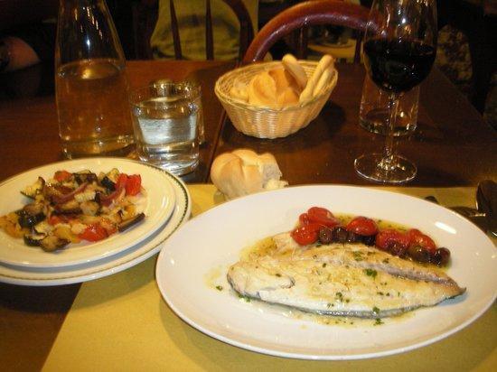 L'Anice Stellato: grilled Dorada fish with caponata