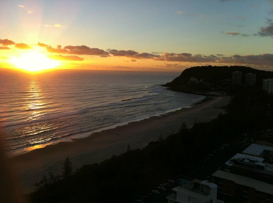 2nd Avenue Apartments: Morning sunrise over Burleigh Heads from 2nd Ave Apartments