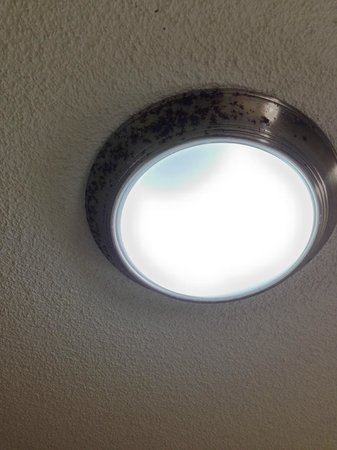 Holiday Inn-Asheville Biltmore West: Old light fixtures that need to be replaced.