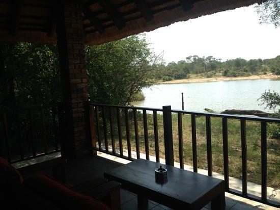 Gomo Gomo Game Lodge: vista al lago