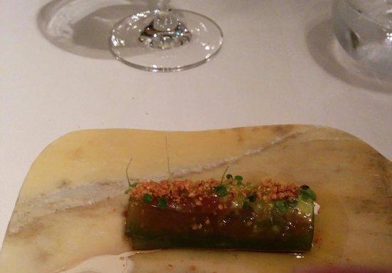 Maruja Limon: Tomate confitado, queso de cabra,....