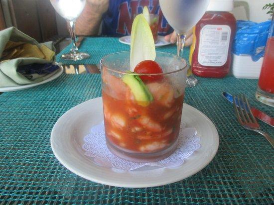 Secrets Silversands Riviera Cancun : cocktail de crevettes (bord de mer)