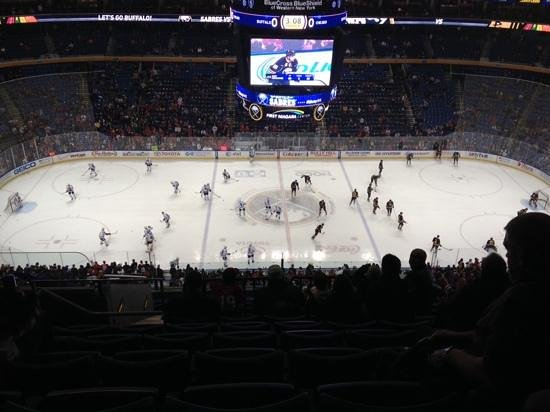 KeyBank Center: warm up, Buffalo and Chicago
