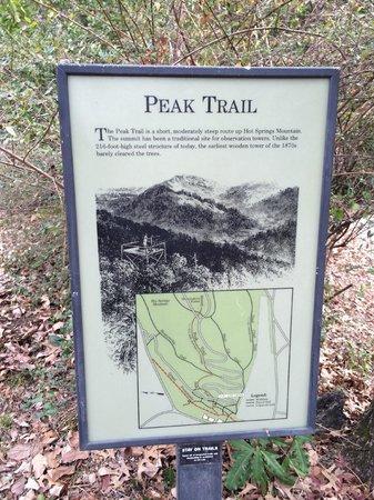 Hot Springs National Park: Start of trail
