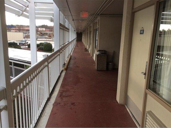 Days Inn Charlottesville/University Area : Filthy hallways and rooms