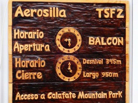 Calafate Mountain Park: entrada