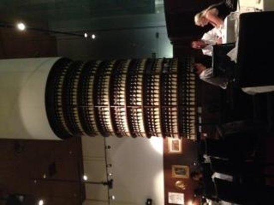 Ristorante Amarone: Column of wine!