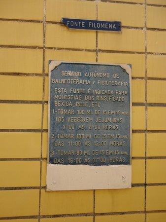 Balneario Municipal De Aguas De Lindoia: Fonte Filomena