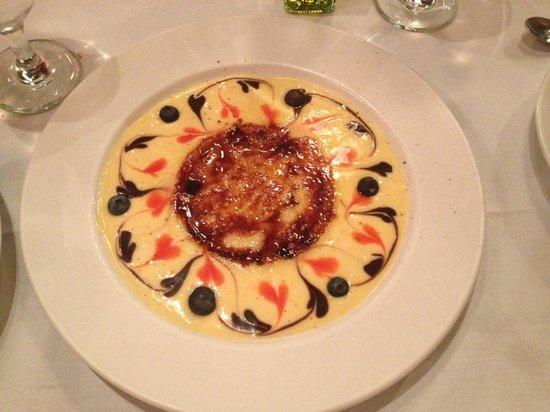 Jamon Iberico Pata Negra Restaurant : Creative creme brulee