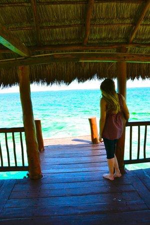 Azul Beach Resort Riviera Maya: At the end of the pier.