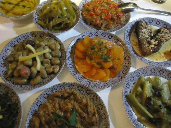 L'Amandier Palais Faraj: Nice appetizers!