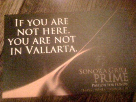 Sonora Grill Prime Vallarta: Love their ad!
