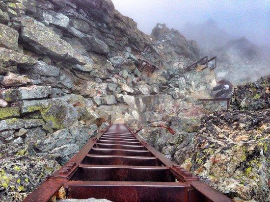 Yarigatake: 頂上迄の梯子
