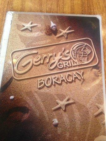 Gerry's Grill: menu