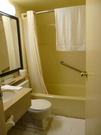 Travelodge Hotel Calgary Macleod Trail: Salle de bains avec baignoire