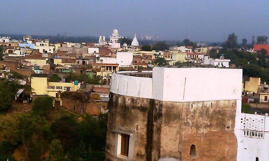Bharatgarh Fort: The birds eye view of the village from the roof-top