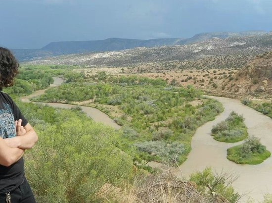 Abiqui Lake: Where the water runs from the dam to valley after rain