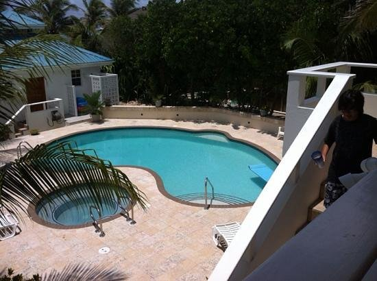 Cocotal Inn & Cabanas : pool view from upstairs