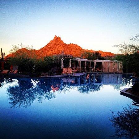 Four Seasons Resort Scottsdale at Troon North: Pool at sunrise