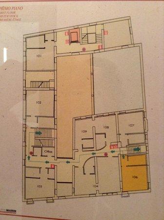 Liassidi Palace Hotel: フロアの見取り図。