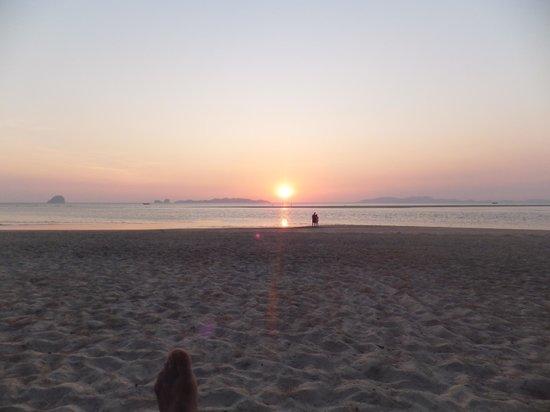 Sikao, Thailand: Solnedgang over Si Kao