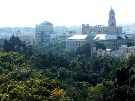 Hotel MS Maestranza: Вид на Малагу с террасы