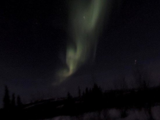 Aurora Borealis Lodge : This Aurora was to the east of our room.
