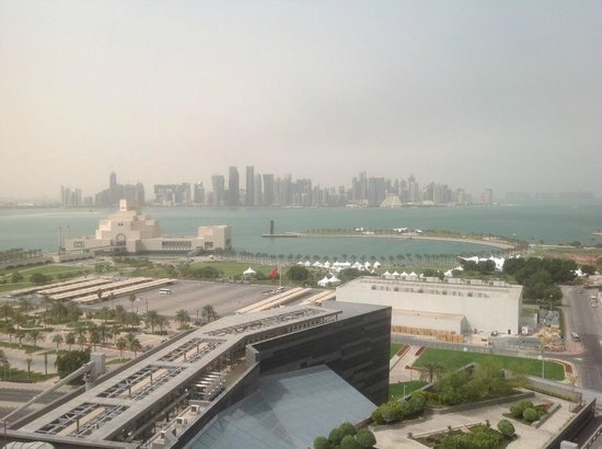 Fraser Suites Doha: View from the rooftop swimming pool area
