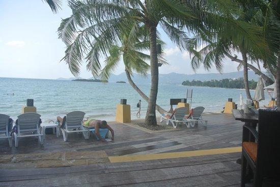 Novotel Samui Resort Chaweng Beach Kandaburi : View from the beach restaurant