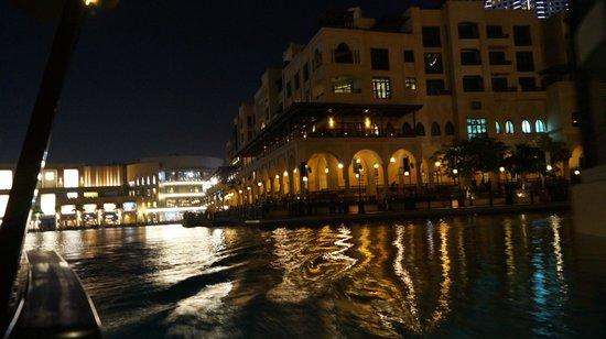 Dubai Fountains: вид с лодки