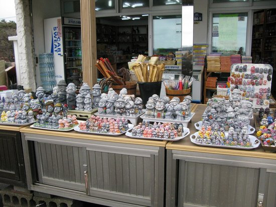 Seongsan Ilchulbong: 出口附近有販賣土產和小吃的店舖