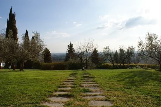 Relais Il Falconiere & Spa: la vista meravigliosa dalla nostra suite...