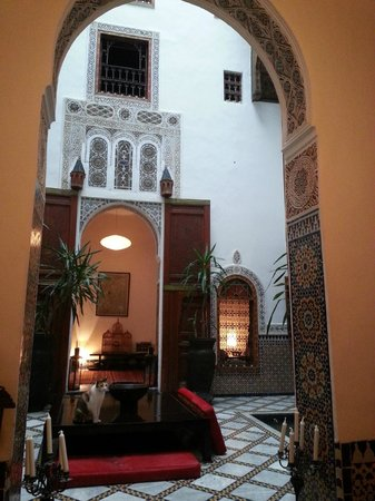 Riad Numero 9: View of interior courtyard from a sitting room