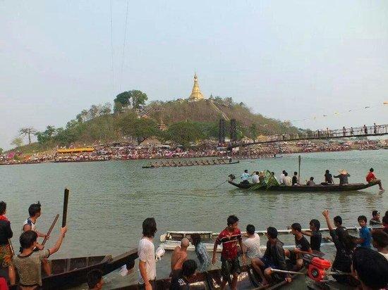 Mrauk U, Myanmar: ပုဏၰားကြၽန္းၿမိဳ႕ ဦးရာဇ္ေတာ္ေစတိေတာ္ျမတ္ ဘုရား ပြဲ