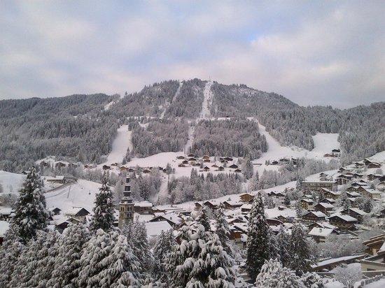 Hotel Alpen Roc : vue depuis la chambre.