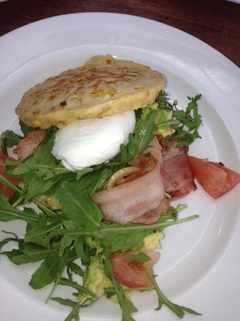 Capers on the Esplanade: delicious corn fritters!