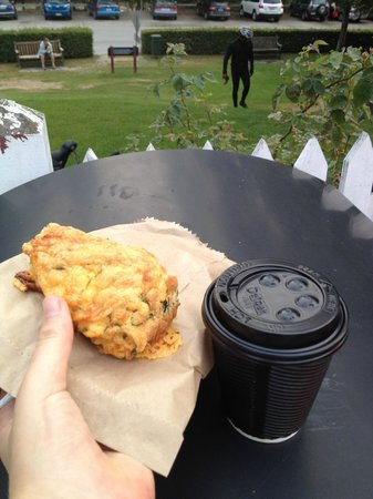 Cook's Store & Deli: Savoury scone and chai latte - awesome!