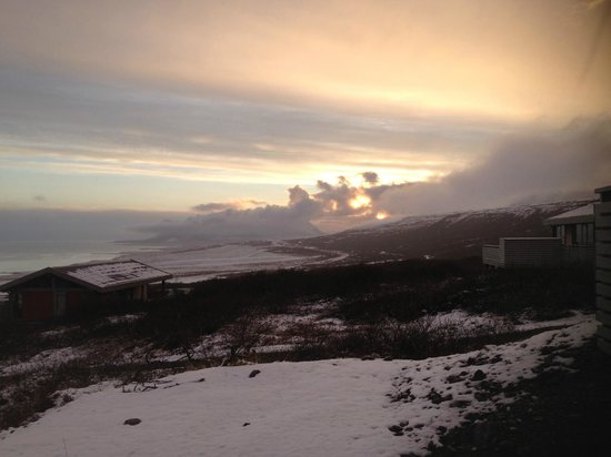 Hotel Glymur : Sunset from the hot tub