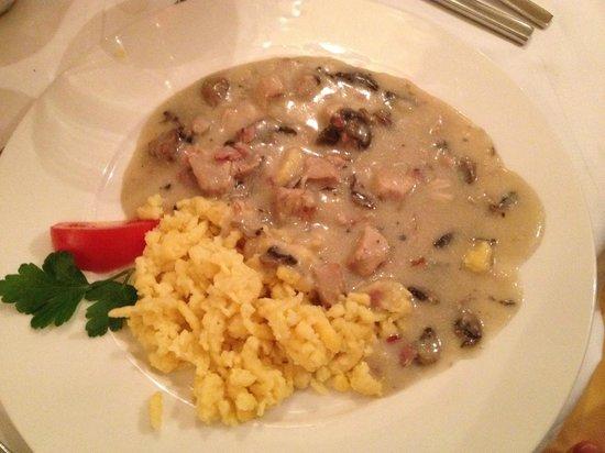 Alpenhotel Tauernkoenig: type de plat servi au restaurant