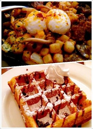 Green Waffle Diner: Waffle King! Lunch menu is great too!