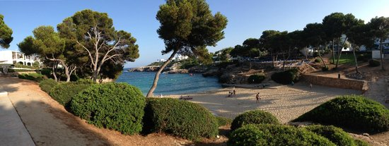 Inturotel Cala Azul Park: View into Cala Esmeralda (in front of the Cala Esmeralda hotel)