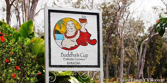 Buddha's Cup Coffee Estate: Sign for Buddha's Cup Kona Coffee Estate