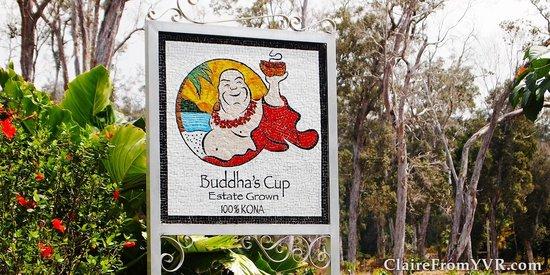 Buddha's Cup Coffee Estate : Sign for Buddha's Cup Kona Coffee Estate