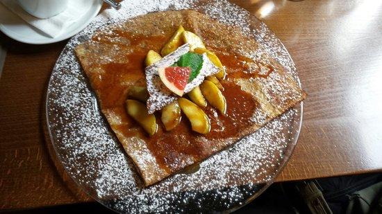 Bergamote: Crêpe pommes cidre et caramel