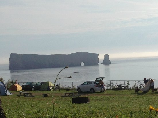 View from Camping Cote Surprise, Percé
