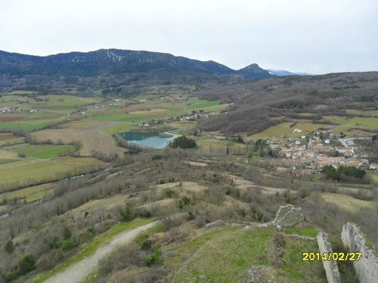 Chateau de Puivert: VIEW FROM ROOF
