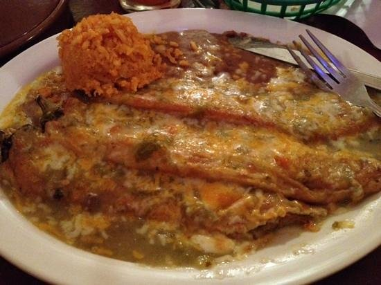 The Jalisco Cafe : Chili rellanos plate. Amazing!!!