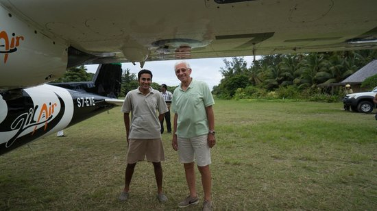 Denis Private Island Seychelles: flying back